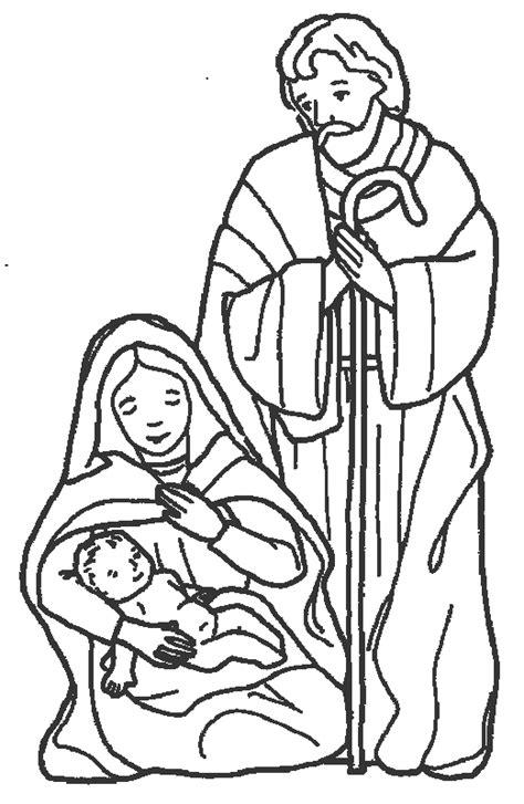 imagenes de jesus jose y maria para colorear familia cat 243 lica p 225 ginas para colorear de nacimientos