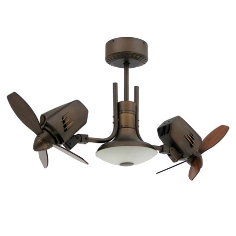 ceiling fan with two fans mustang ii dual oscillating ceiling fan