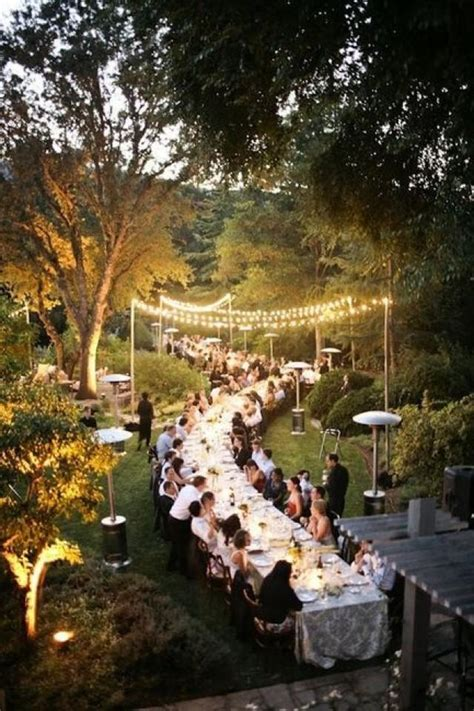 outside party outdoor wedding heavenly dinner party 2057935 weddbook