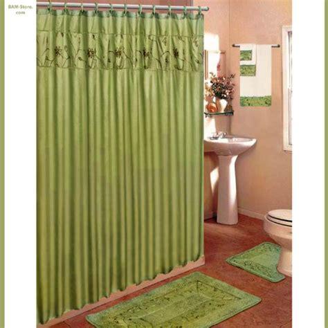green shower curtain set affordableolive green 18 piece bathroom set 2 rugs mats