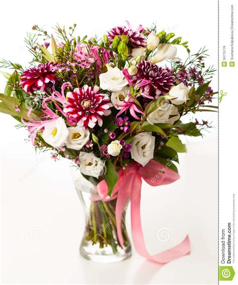 Bouquet Of Flowers In A Vase by Bouquet Of Flowers Stock Photo Image Of Bunch Beautiful