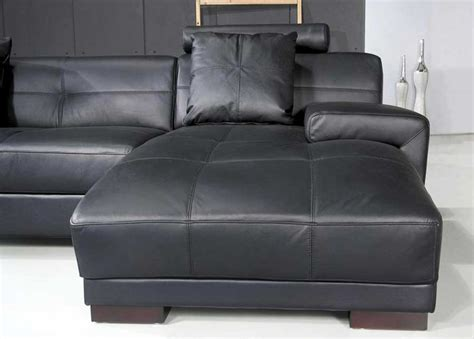 Omega Modern Black Leather Sectional Sofa Leather Sectionals Modern Black Sectional Sofa