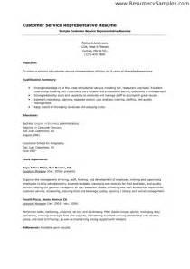 customer service representative cover letter no experience sle cover letter for customer care representative