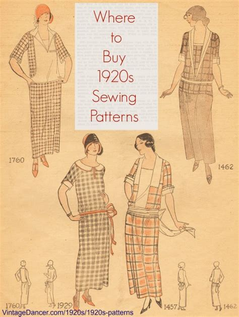 1920s patterns vintage reproduction sewing patterns
