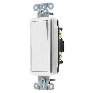 Shop hubbell 15 20 amp single pole white indoor rocker light switch at
