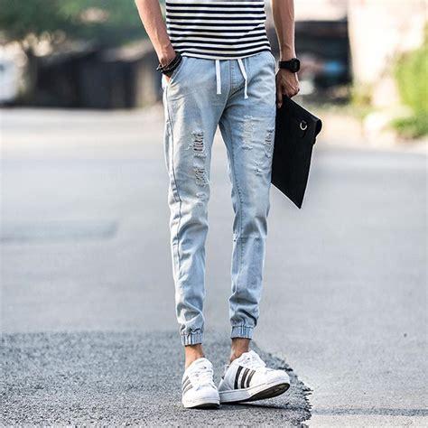 mens light blue jeans ripped ripped jeans for men light blue bbg clothing