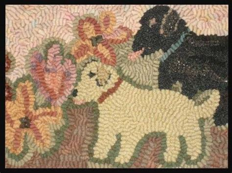 black lab rug hooked rug labrador pups in the garden rug hooking patterns rug hooking and labradors