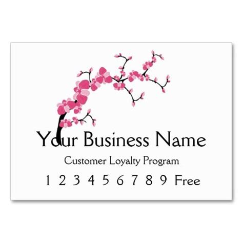 Business Card Template Free Word Cherry Blossom by Loyalty Card 2 Cherry Blossom Tree Branch Business Card