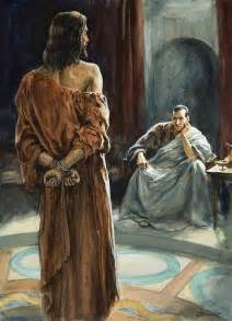 What Goes Inside Duvet Cover Christ In Front Of Pontius Pilate Painting By Henry Coller