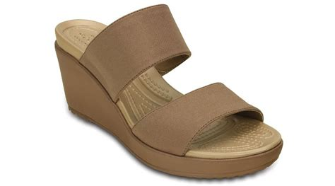 crocs womens leigh ii 2 wedge sandal ebay