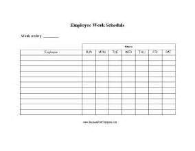 Free Printable Work Schedule Template Employee Work Schedule Template