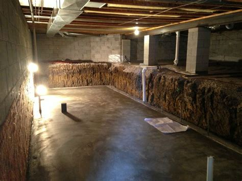 crawl space dig out to make a basement columbus