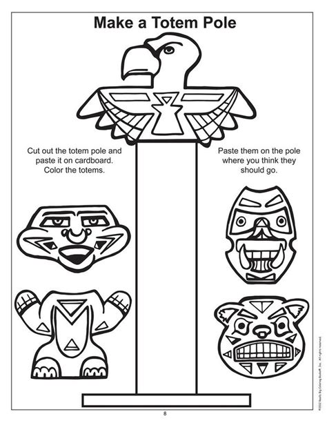 totem pole design template tiki totem pole coloring pages coloring pages