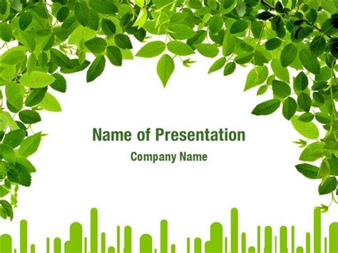 powerpoint themes leaves green leaves powerpoint templates green leaves