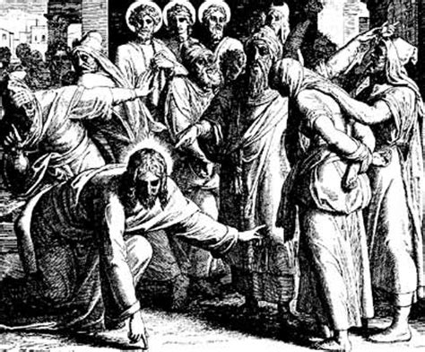 jesus   woman caught  adultery matney woodard