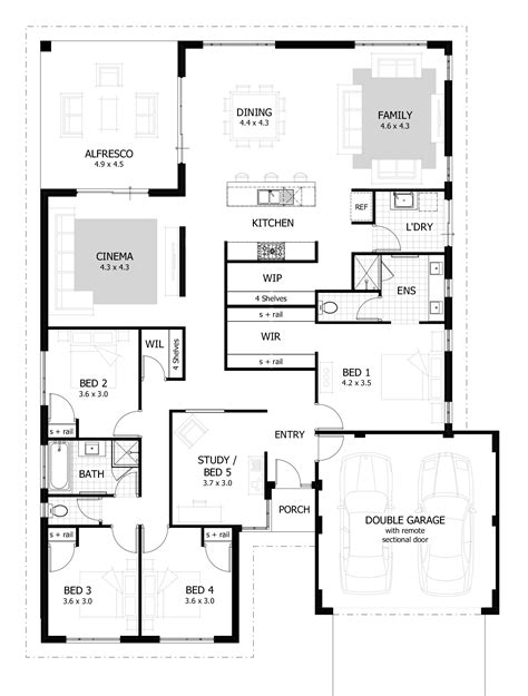 1 home plans 4 bedroom house plans home designs celebration homes