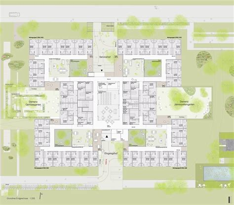 retirement home design plans lar de idosos peter rosegger dietger wissounig