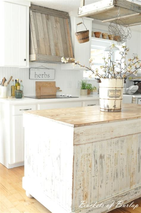 Shabby Chic Kitchen Island 28 Vintage Wooden Kitchen Island Designs Digsdigs