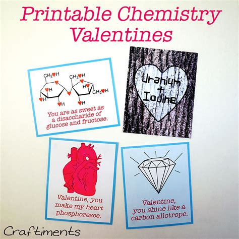 chemistry valentines day card printable valentines a bit different and all free