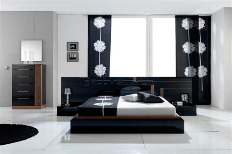 modern black bedroom sets black and white contemporary modern bedroom sets