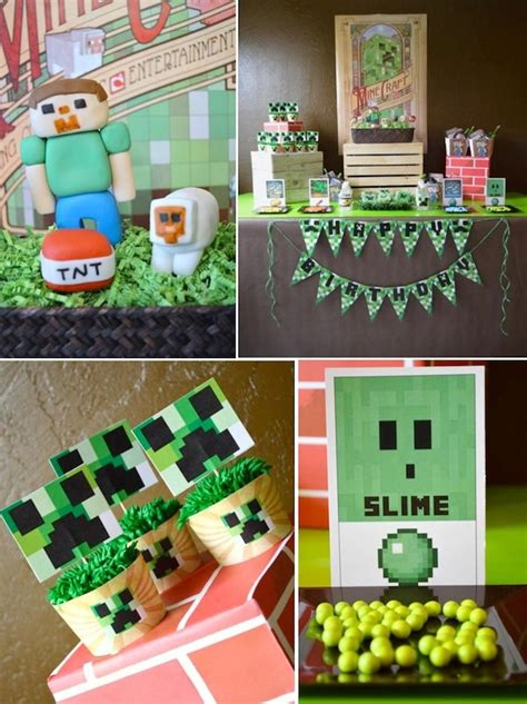 printable minecraft birthday party decorations kara s party ideas vintage minecraft video game boy