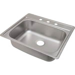 aspen 25 x 22 quot single bowl stainless steel kitchen sink 3