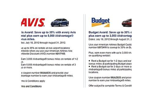 avis coupon code american airlines