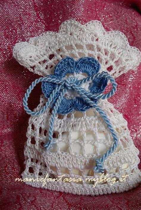 schemi fiori uncinetto per bomboniere sacchettino bomboniera uncinetto schema e confezione