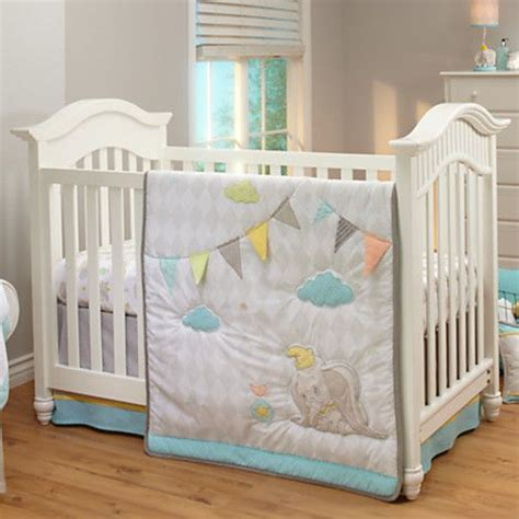 Dumbo Crib Bedding Set For Baby Personalizable Nursery Disney Crib Bedding For Boys