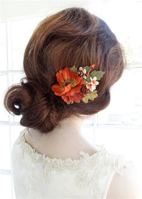 Wedding Hair Accessories Chagne by Rustic Wedding Hair Accessories Flowers Fall Wedding Hair