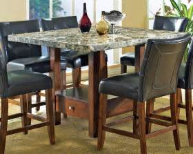 Discount Dining Room Chairs Sale Steve Silver Montibello Marble Top Dining Table Efurniture Mart