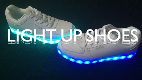 light up nike shoes for light up shoes unboxing youtube