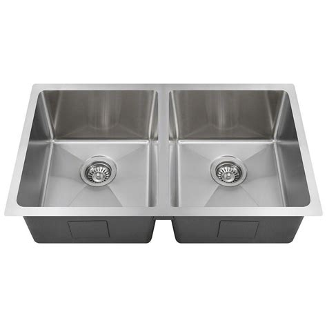 Home Depot Undermount Kitchen Sink Polaris Sinks Undermount Stainless Steel 31 In Basin Kitchen Sink Pd0213 The Home Depot