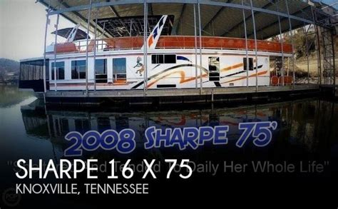 jon boats for sale knoxville tn 2008 sharpe houseboats 16 x 75 knoxville tn for sale 37938