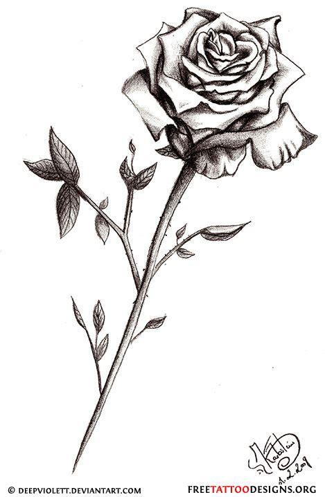 long stem rose tattoos 50 tattoos meaning
