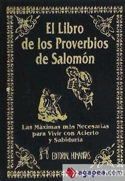 libro el espejo de salomon el libro de los proverbios de salomon agapea libros urgentes