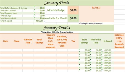 Coupon Savings Spreadsheet by Free Grocery Savings Calculator From Lrwc Free Groceries