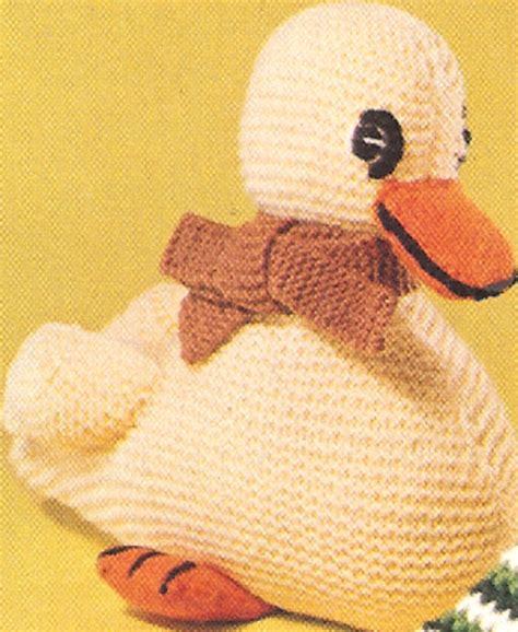 knitting patterns of toys duck duckling baby stuffed animal knitting pattern