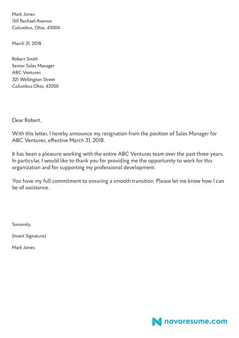 resignation letters spintel co