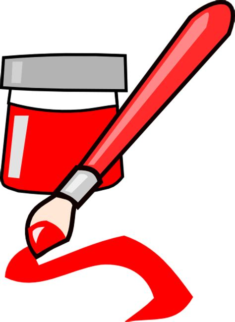 red paint red paint clip art at clker com vector clip art online