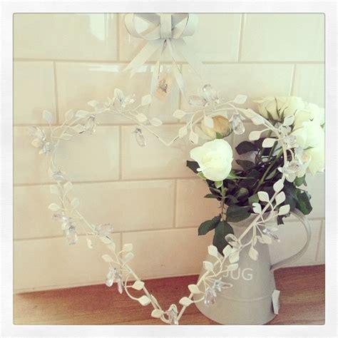 Large Vintage Metal Hanging Heart Wreath