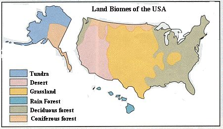 biome map of the united states untitled document education edu