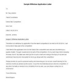 Withdrawal Complaint Letter 50 Best Free Application Letter Templates Sles