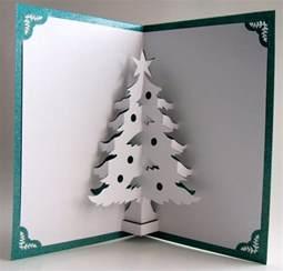 christma cards 3d christmas tree cards more ideas make