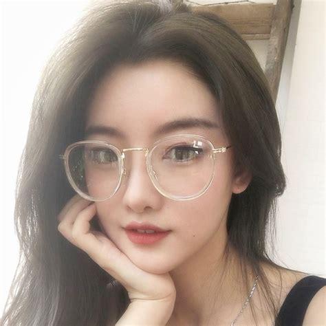 Korean Glasses Kacamata Korea Murah Oval Fashion Trendy Hitam Kaca Ben new korean style luxury vintage glasses or eyeglasses clear glasses frame