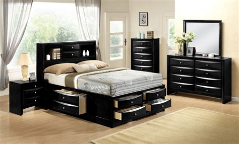 Emily Black Storage Bedroom Set Bedroom Furniture Sets Storehouse Bedroom Furniture