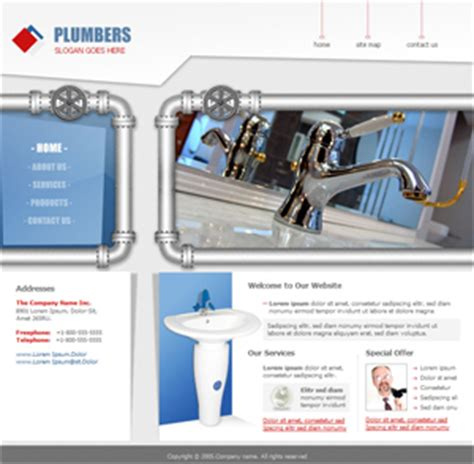 Plumbing Website Templates by Pin Daycare Web Templates Childcare Preschool School