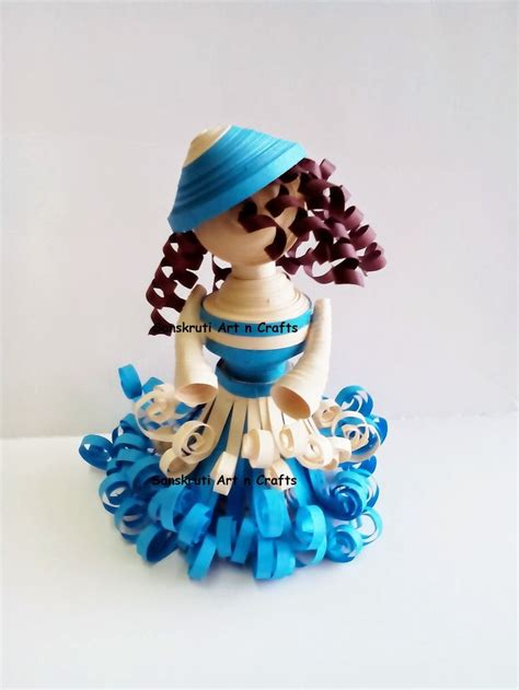 quilling design doll a 3d princess doll by priya mishra quilling pinterest