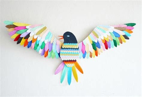 Make Bird From Paper - colorful toys for handmade