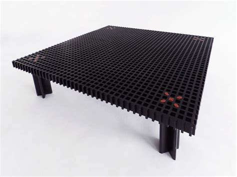 black kyoto coffee table by gianfranco frattini for